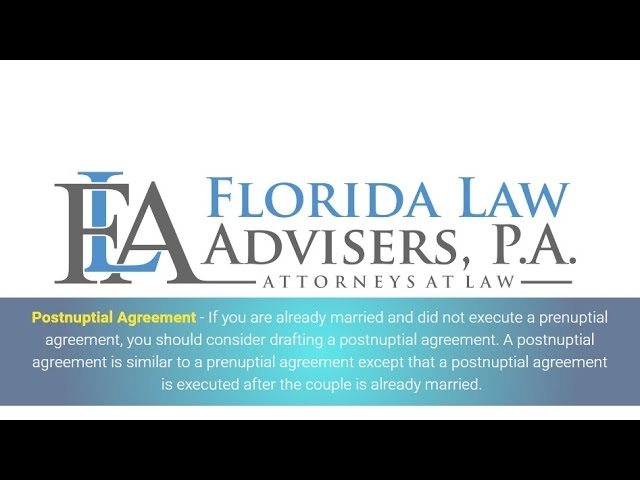 Postnuptial Agreement Florida Law Advisers P A